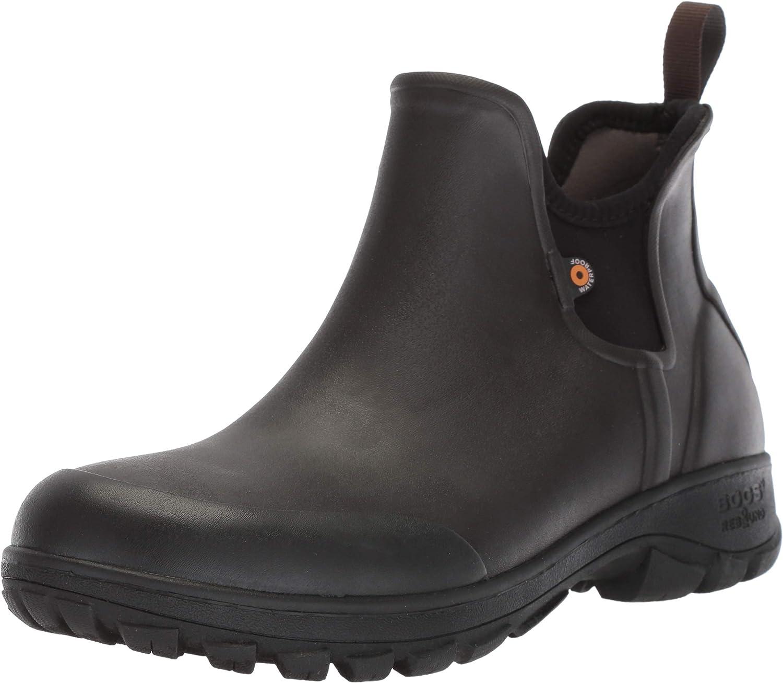 online shop Industry No. 1 BOGS Men's Sauvie Slip on Low Boot Height Rain Waterproof Chukka