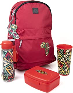 Mintra Sports Backpack with Lunchbox, Bottle and Cup Unisex Egyptian Fan Kit for African Cup Of Nations, Set of 4 Pieces -...