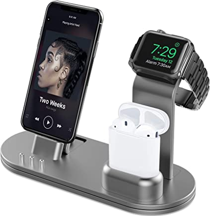 OLEBR Aluminum Alloy Charging Stand for iWatch 4 Watch...