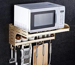 JYGZJZ Estante de Cocina de Aluminio Space/Soporte de Doble Pared/Estante de microondas (Tamaño: 550 * 390 * 230 MM)