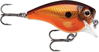 "Rapala Balsa Xtreme Brat Hard Bait Lure, Freshwater, Size 03, 2"" Length, 3' Depth, 3/8 oz, Tamale, Package of 1"
