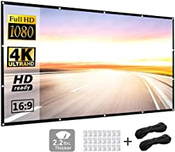 Projection Screen 150 inch 16:9 HD Foldable Anti-Crease Portable Projector Movies Screen..