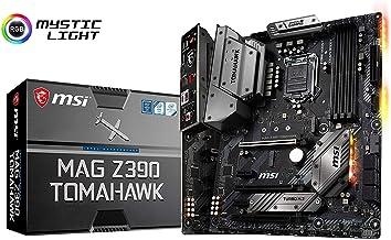 MSI MAG Z390 TOMAHAWK - Placa base Arsenal (LGA 1151, 3 x PCI-E x16, M.2 Shield FROZR, Dual Intel LAN, Core Boost, 4 x USB 3.1 Gen2, DDR4 Boost, Multi-GPU)