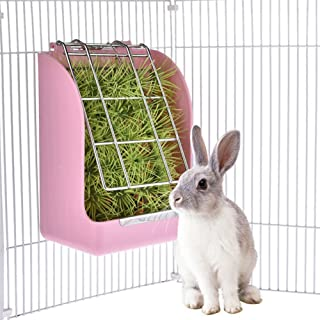 Cyndie Rabbit Grass Feeder Spring Straw Frame Grass Basket Small Pet Guinea Pig Totoro Cage Accessories Fixed Food Container Bowl