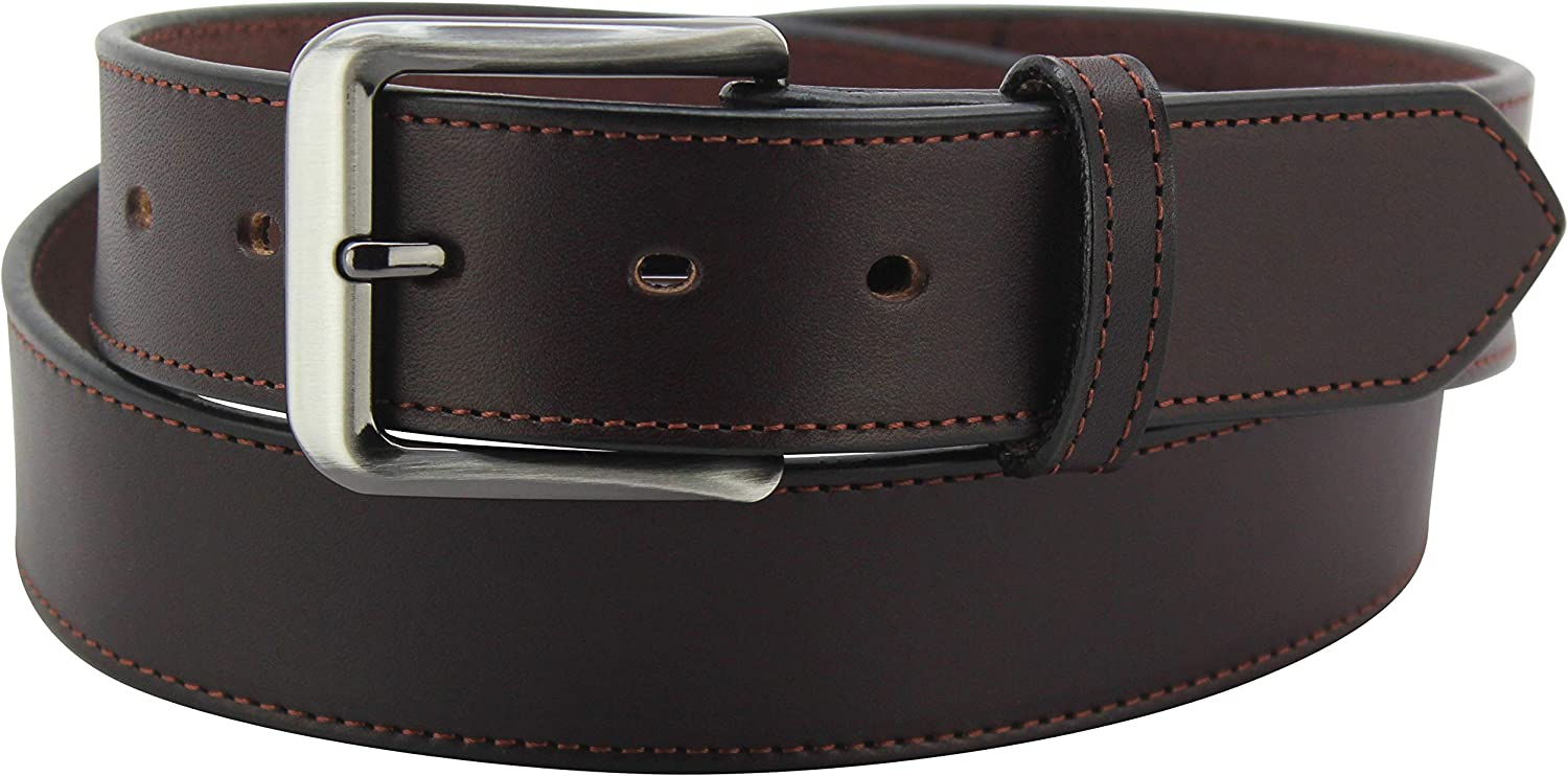"""Men's Bridle Max 62% OFF Leather Belt – Single Stitched 1.50"""" Belts price Wide -"""