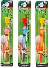 koviss Velocity Spring Golf Tee with Par 3 - Extra Long Size 3.3