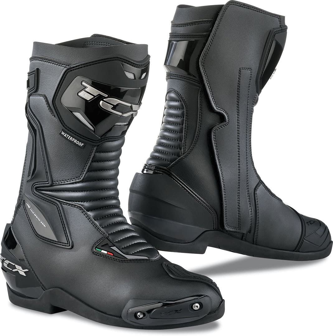 TCX RT-Race Adult Street Motorcycle Boots Black//Red//EU 43 US 9