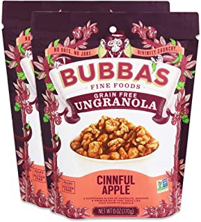 Bubba's Fine Foods Granola, Cinnful Apple (Pack of 2) | Grain-Free, Gluten-Free, Vegan, Paleo, Dairy Free and Certified Non-GMO