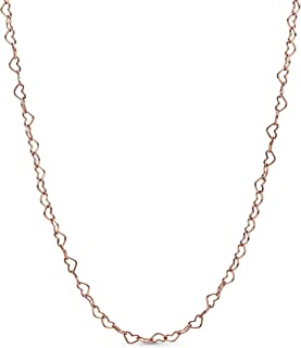 "Pandora Jewelry Joined Hearts Pandora Rose Necklace, 23.6"""