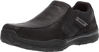 Skechers Men's Elment-BRENCEN Loafer, Black, 6.5 Wide US