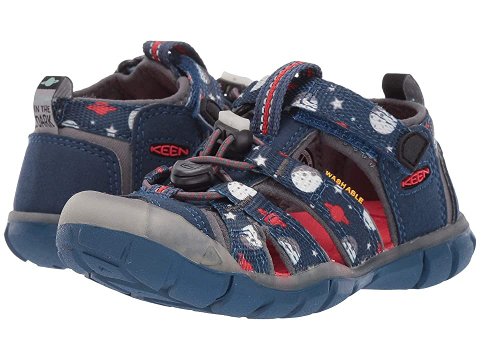 Keen Kids Seacamp II CNX (Toddler/Little Kid) (Blue Opal Space/Glow) Boys Shoes