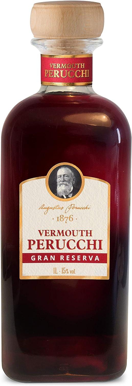 Vermouth Perucchi Gran Reserva Dorado, Primer Vermouth elaborado en España 15% Alcohol, Crianza media de 3 años por metodo solera, Selección vins&co barcelona, 1000 ml