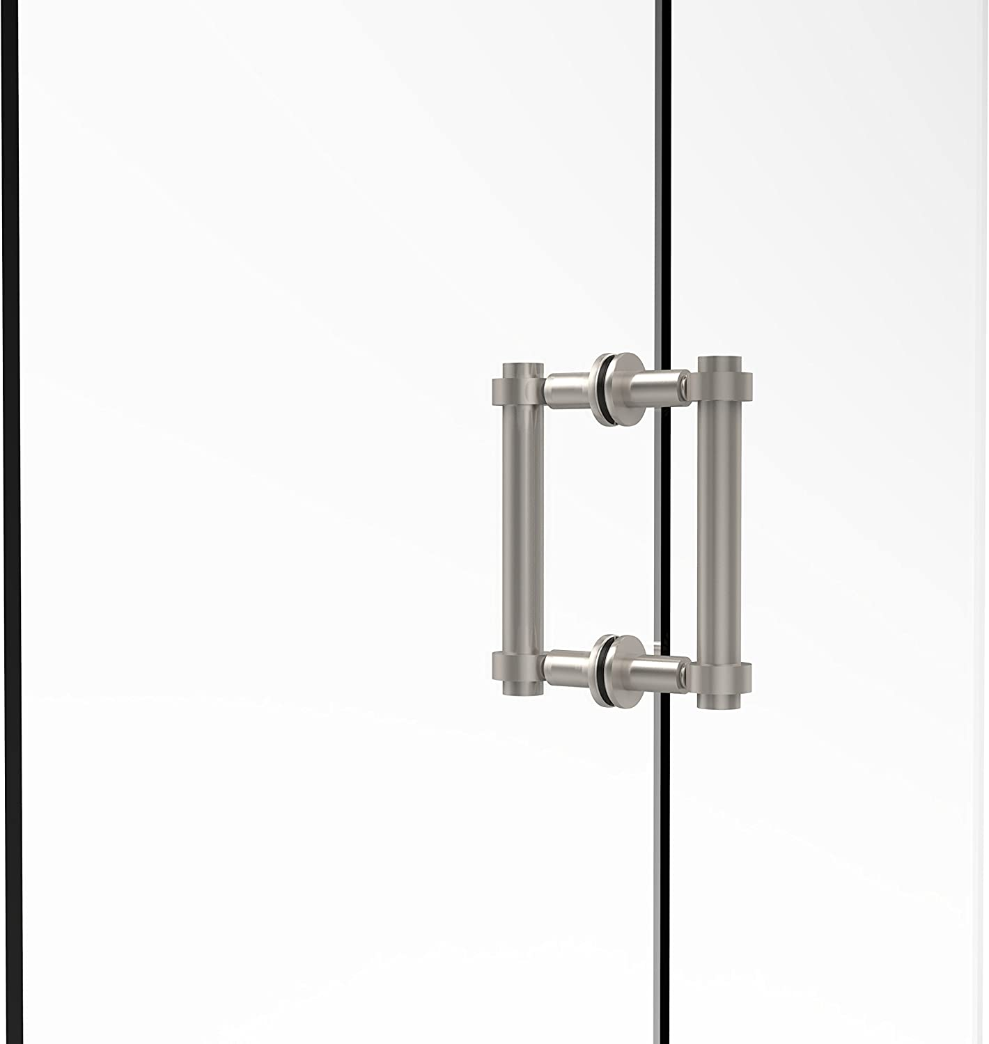 Allied Brass 404-6BB-SN Contemporary 6  Back To Back Shower Door Pull,