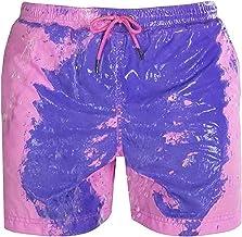 EA-SDN Zwembroek voor heren, temperatuurgevoelig, kleur veranderende strandbroek voor mannen, zomer, stijlvol, sneldrogen...