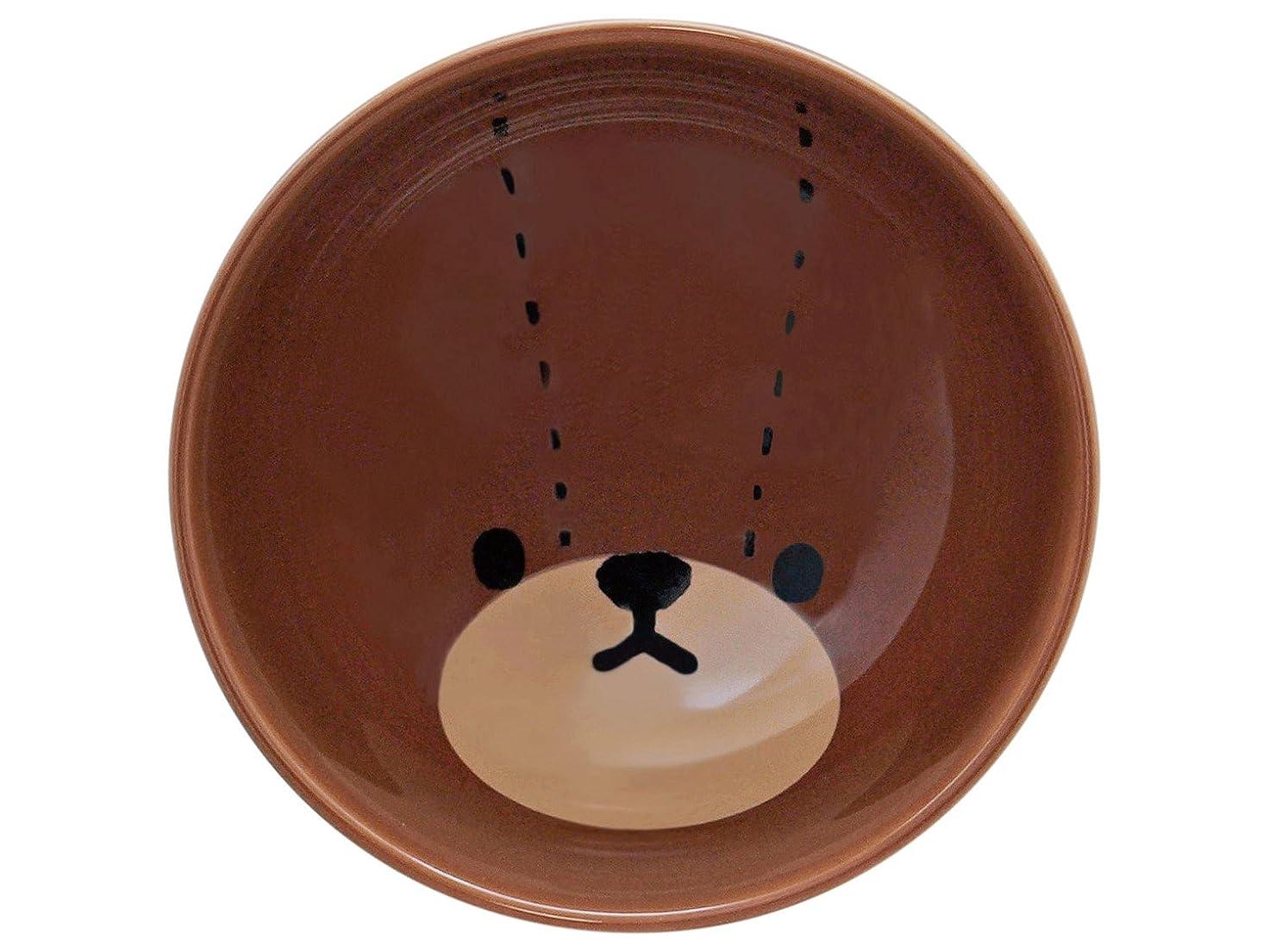 池農業兵隊「 くまのがっこう 」 ジャッキー カラーフェイス お茶碗 直径10.5cm ブラウン 783144