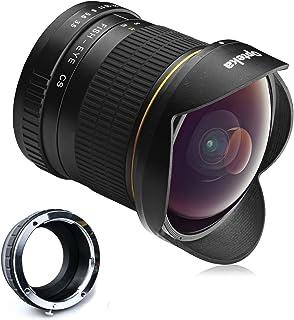 Opteka Objetivo de ojo de pez con lente asférica HD 65 mm f/35 con tapa desmontable para cámaras digitales sin espejo Sony NEX E-Mount a7r a7s a7 a6000 a5100 a5000 a3000 NEX-7 NEX-6 NEX-5T NEX-5N NEX-5R y 3N
