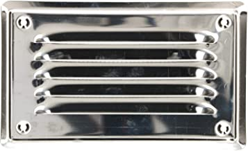 Inox Grille da/ération Inox ext/érieur Inox Grille de ventilation 17,8 x 25,4 cm De Haute Qualit/é en acier inoxydable Grille Acier inoxydable Non magn/étique Grille de ventilation Grille da/ération de 180 mm x 250 mm