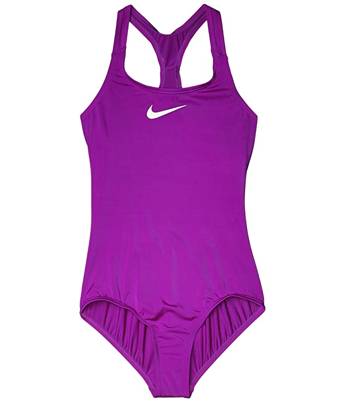 Nike Kids  Racerback One-Piece (Little Kids/Big Kids) (Vivid Purple) Girls Swimsuits One Piece