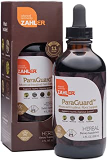 Zahler ParaGuard, Advanced Digestive Cleanse, Intestinal Support for Humans, Contains Wormwood, Certified Kosher (4OZ)