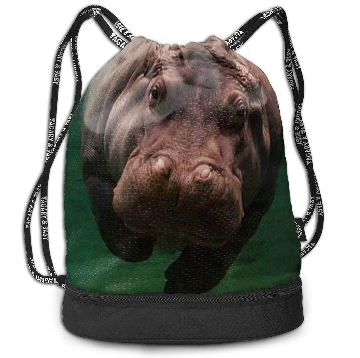 Max 45% OFF Diving Hippo Drawstring Bag Sport Gym Be Large Sackpack Capacity Cheap mail order sales