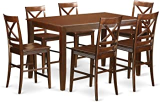 high top table set for 6