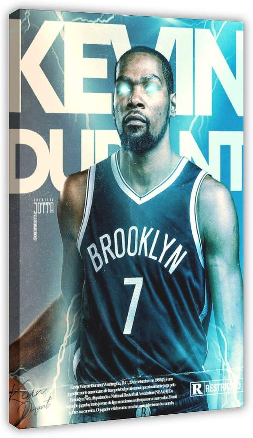 Basketball Shipping included Player Kevin Durant Sport Bed Canvas Poster Oklahoma City Mall 12