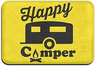 Happy Camper Fire Trailer Home Doormat Floor Mat Non-slip