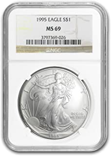 1995 Silver American Eagle 1 OZ MS-69 NGC