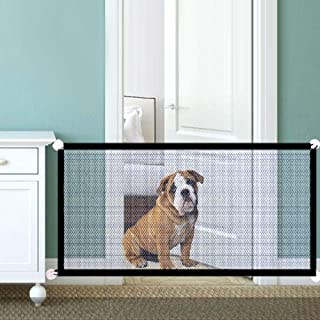 GoolRC Dog Safety Gate Pet Safe Mesh Fence Portable Folding Baby Safety Gate Install Anywhere 110 * 72CM
