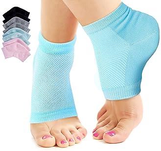 Nado Care 4 Pairs Heels Moisturizing Socks for Dry Cracked Heels Repair - Moisturizing Gel Heel Sleeves Open Toe Comf...