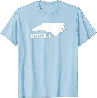 Chapel Hill North Carolina Zip Code 27514 T-shirt