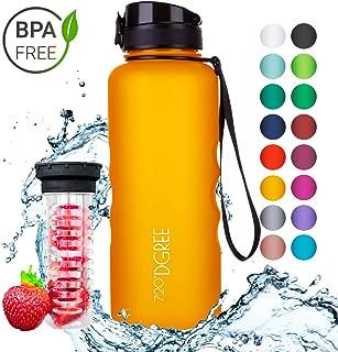 720°DGREE Leakproof Tritan Water Bottle uberBottle - 50 oz, 1.5 Liter | Ideal for School, Fitness, Outdoor, Sport, Bike, Kids, Camping | with Fruit Filter - BPA Free
