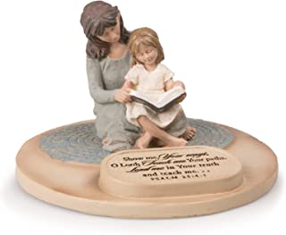 Lighthouse Christian Products Mom w/Daughter Devoted Sculpture, Multi