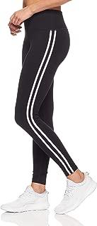 Calvin Klein Women's Double Lurex Stripe High Waist Full Length Jersey Legging