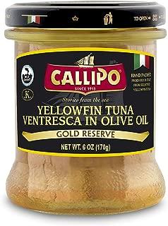 SOLID LIGHT TUNA BELLY IN OLIVE OIL (JAR) CALLIPO