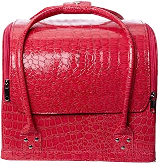 chaonong Cosmetic bag Beauty Cosmetic Tool Box PU Leather Makeup Bag Large Capacity Professional Travel Tattoo (Color : E)