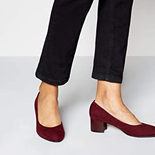 415f6d5bfd7fa Good for the Sole Womens Wine 'Gianni' Block Heel Court Shoes