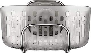 OXO - Good Grips Organisateur d'évier à ventouse StrongHold™ – Rangement pour évier - Taille unique - Gris