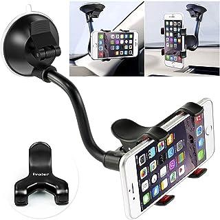 iVoler Telefonhållare för bil, vindruta telefonhållare bilvagga bilfäste 360° roterbar med dubbel konsol kompatibel för Sa...