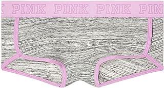 PINK Logo Boy short Panty Heather Grey Marl (Medium)