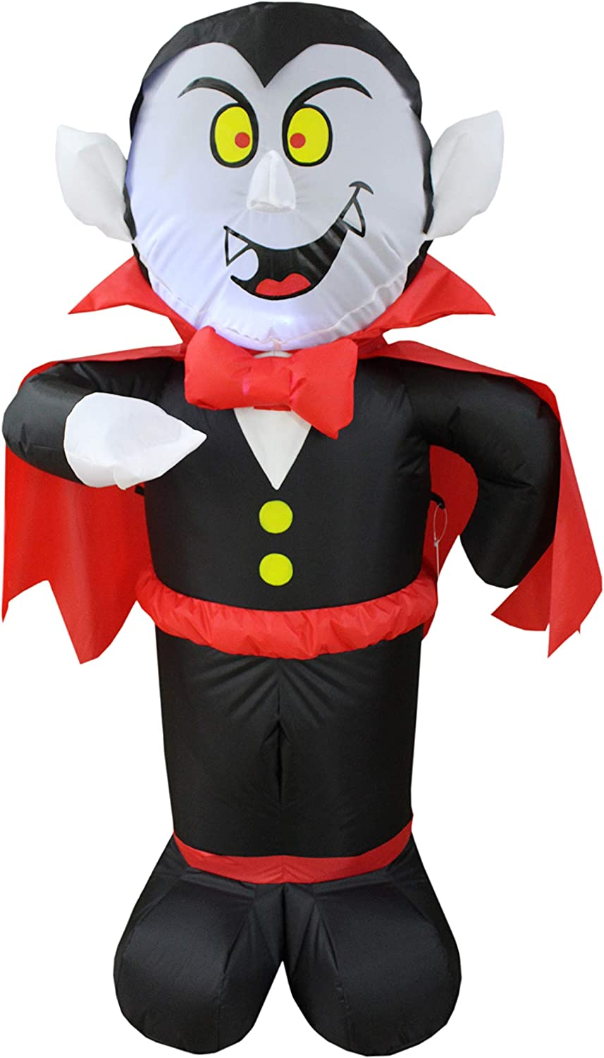 4 Foot Halloween Inflatable Houston Mall Dracula Decor Vampire Lights LED At the price of surprise Out