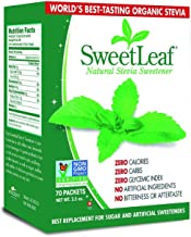 SweetLeaf Sweetener, 70 count packets, 2.5 Ounce box (3-Pack)