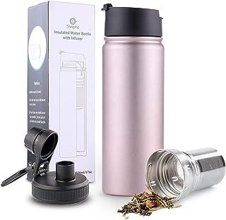 Rosegold - Taza de viaje con infusor de té extraíble (acero inoxidable 18/8)