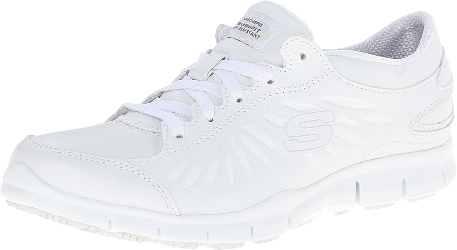 Skechers for Work Womens Eldred Dewy Health Care & Food Service Shoe, White, 11 M US