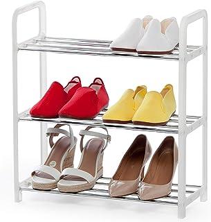 art moon Fernie Meuble à Chaussures 3 Etagères, Armoire à Chaussures Etroite, Gain de Place pour 6 Paires de Chaussures, T...