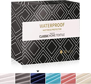 Mecerock Full Size Waterproof Mattress Pad Protector Cover Fitted to 18