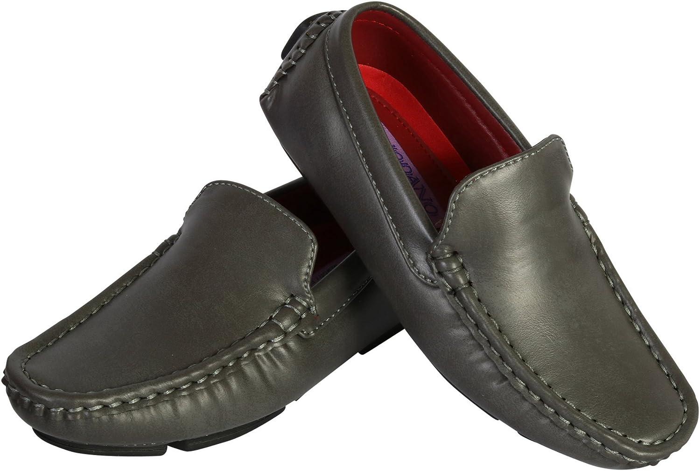 Jodano Collection Boys Classic Slip On Loafer Shoe Toddler//Little Kid//Big Kid