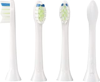 Toothbrush Heads, Replacement Brush Heads for Philips Sonicare Electric Toothbrush,White 4 Pack (HX9033)