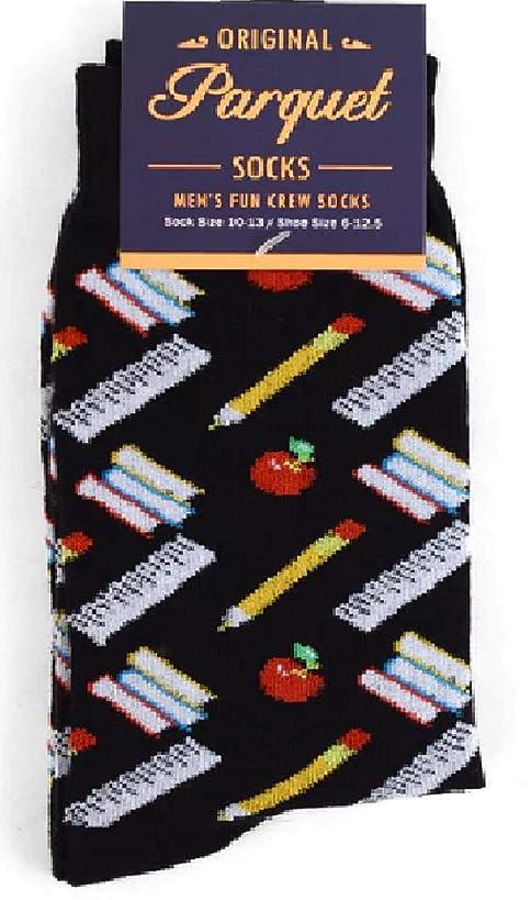 Men's Fun Crew Socks, Sock Size 10-13 / Shoe Size 6-12.5, Great Holiday/Birthday Gift