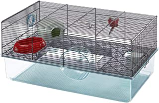 Favola Hamster Cage Includes Free Water Bottle, Exercise Wheel, Food Dish & Hamster Hide-Out Large Hamster Cage Measures 2...